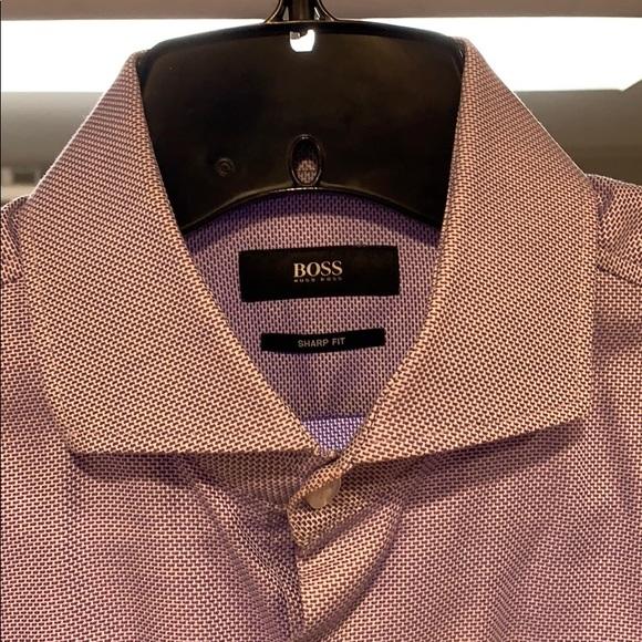 Hugo Boss Other - Hugo Boss Slim Fit Purple Dress Shirt